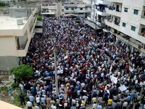 Arab spring march