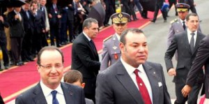 Morocco's King Mohammed VI with French President François Hollande in Casablanca  RFI / Florent Guignard