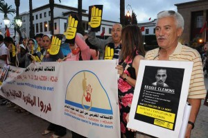 Demonstration against death penalty in Rabat, Morocco