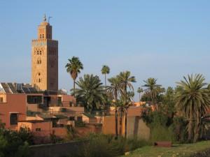Koutoubia Mosque Marrakech. View from terrace, Riad Goloboy Marrakech